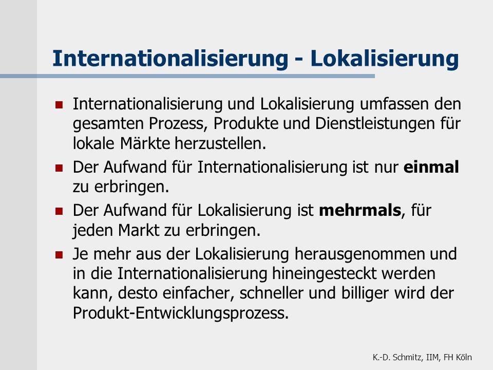 Internationalisierung - Lokalisierung