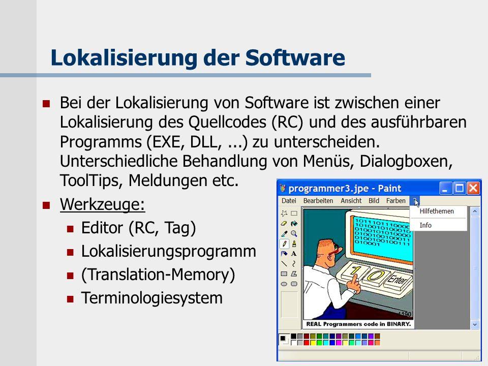 Lokalisierung der Software