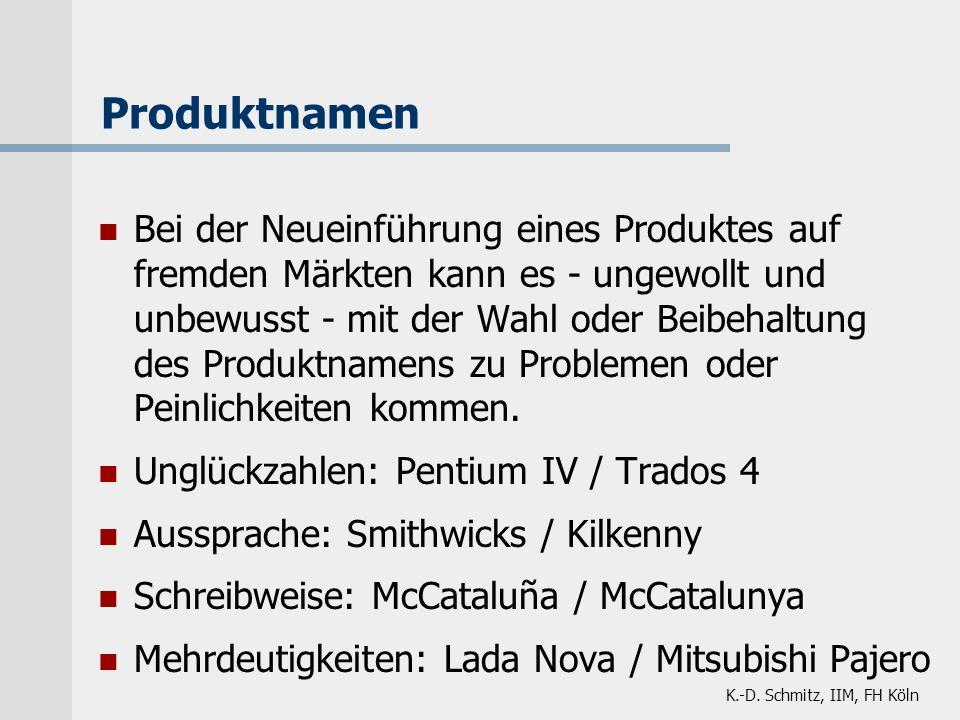 Produktnamen
