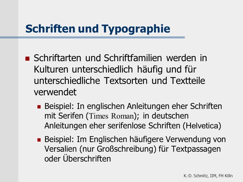 Schriften und Typographie