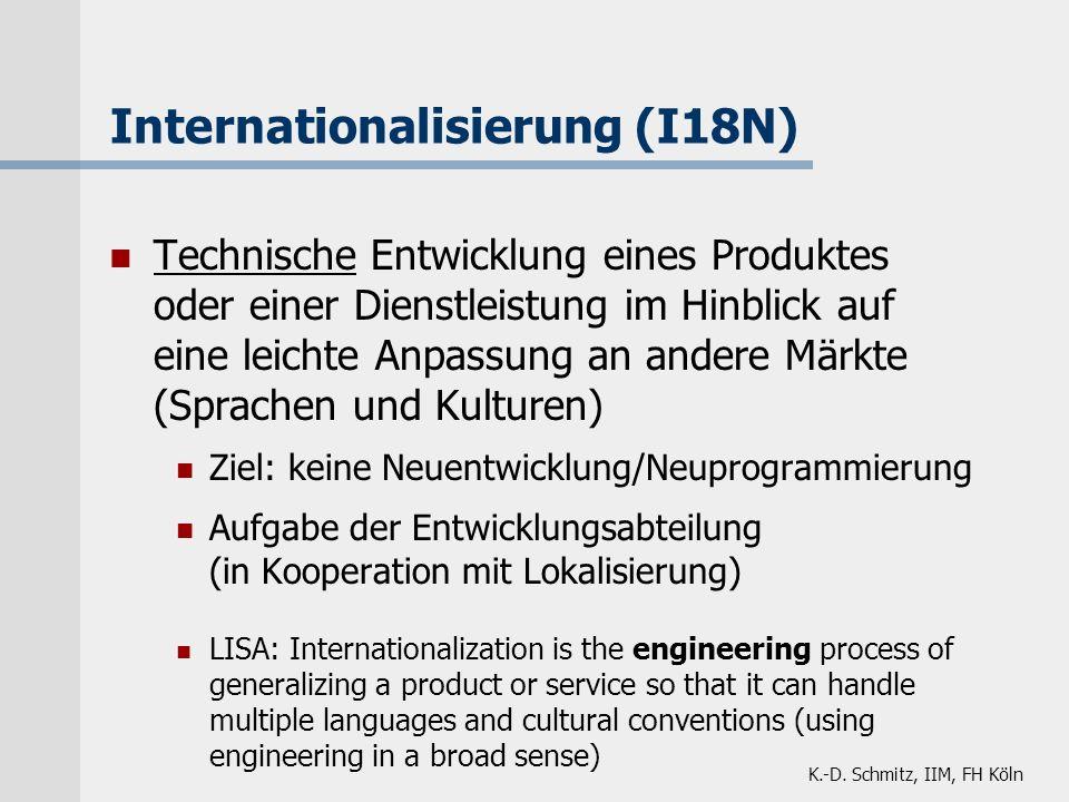 Internationalisierung (I18N)