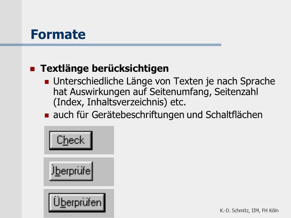 Formate Textlänge berücksichtigen