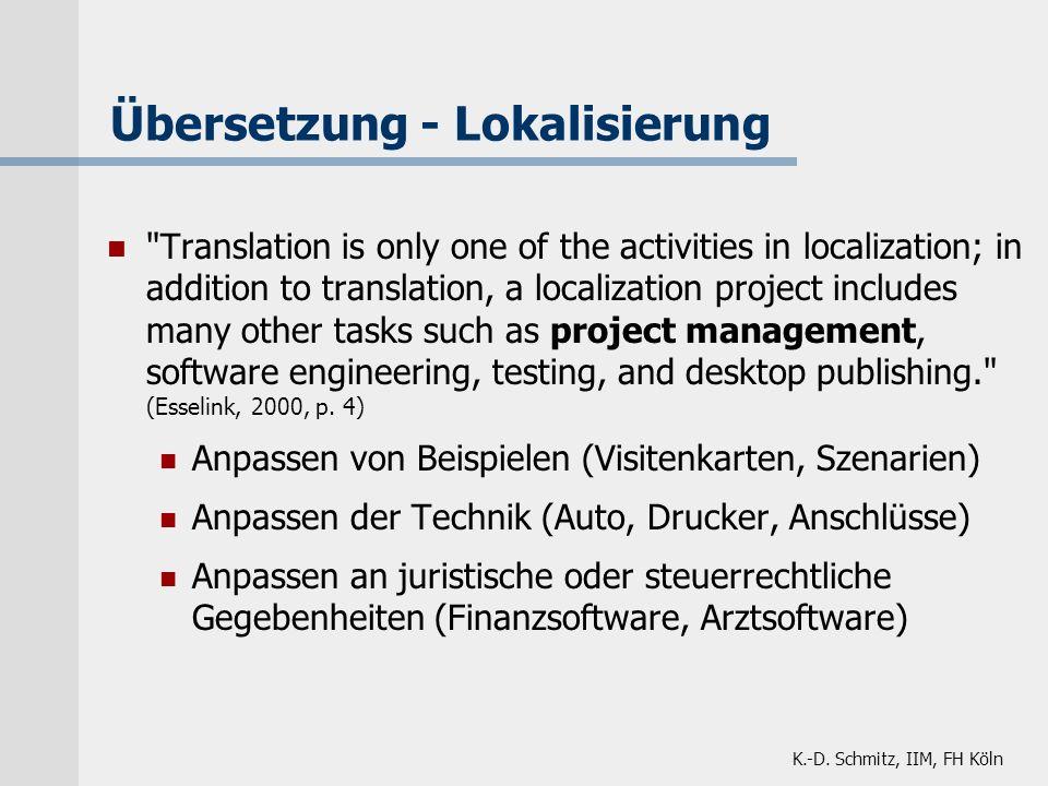 Übersetzung - Lokalisierung