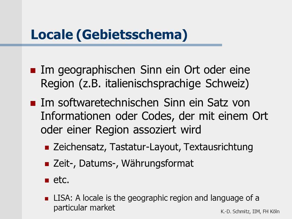 Locale (Gebietsschema)