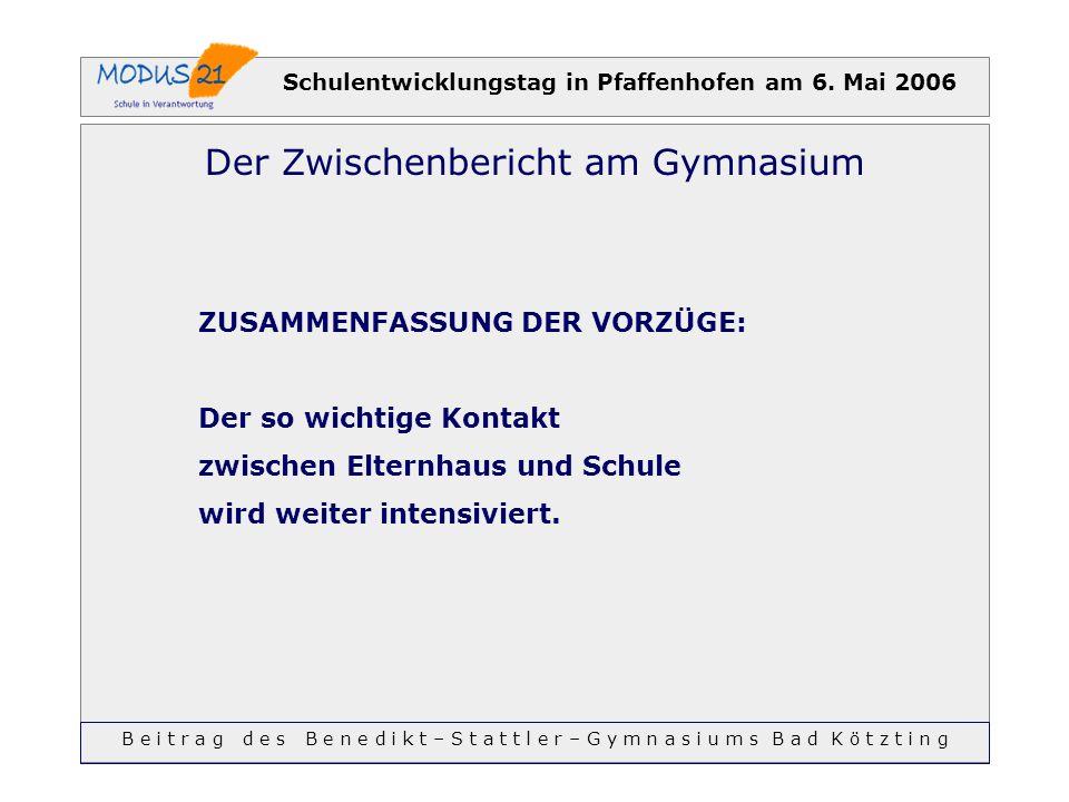 Schulentwicklungstag in Pfaffenhofen am 6. Mai 2006
