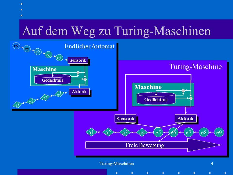 Auf dem Weg zu Turing-Maschinen
