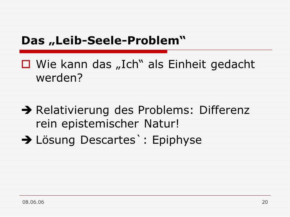 """Das """"Leib-Seele-Problem"""