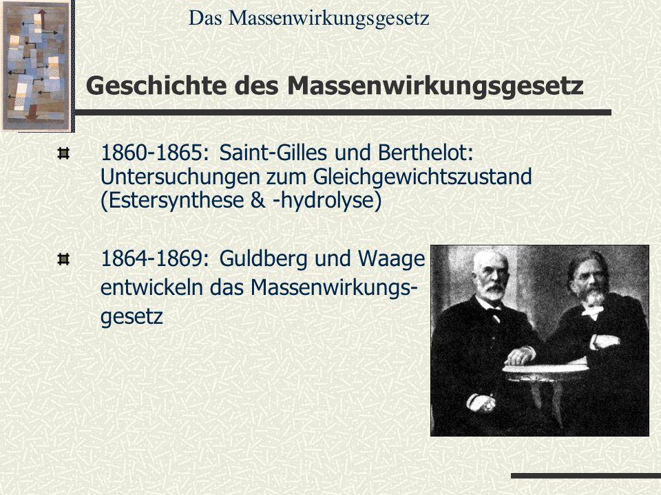 Geschichte des Massenwirkungsgesetz