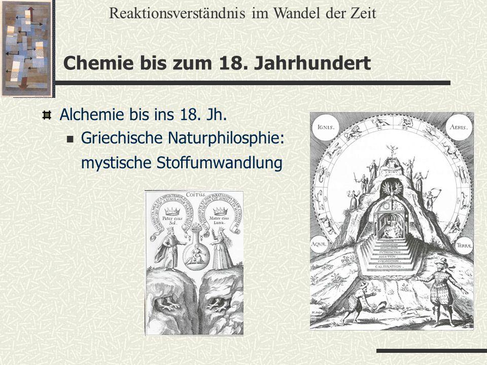 Chemie bis zum 18. Jahrhundert
