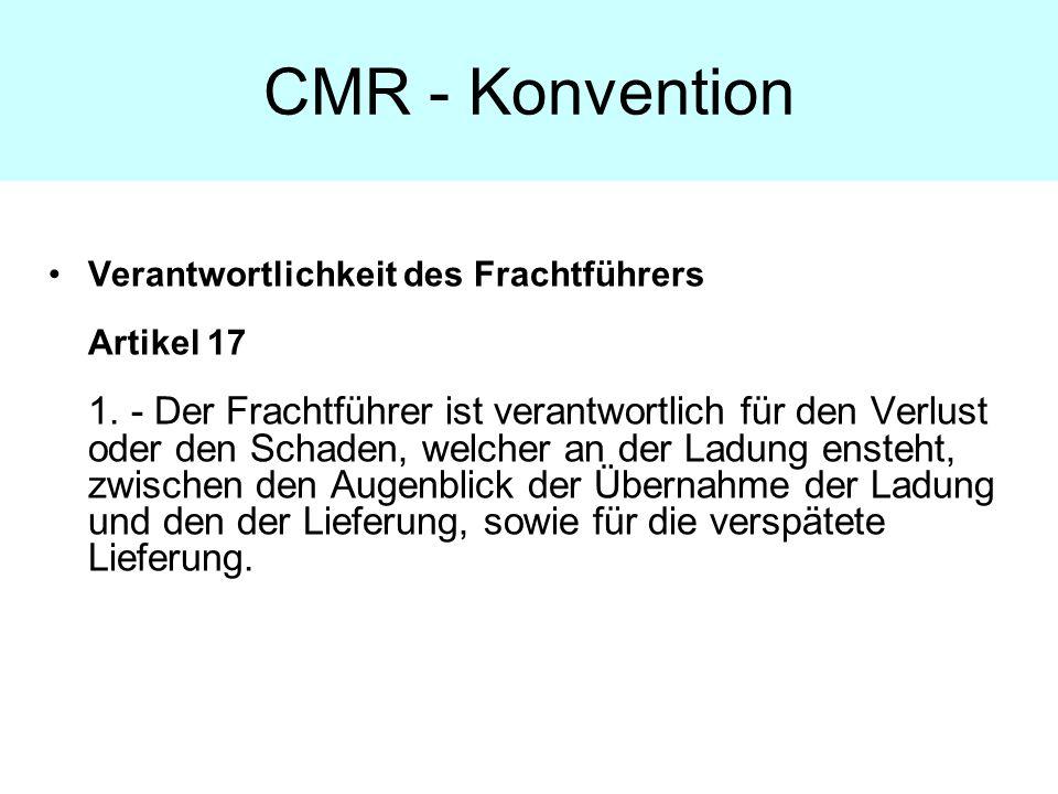 CMR - Konvention