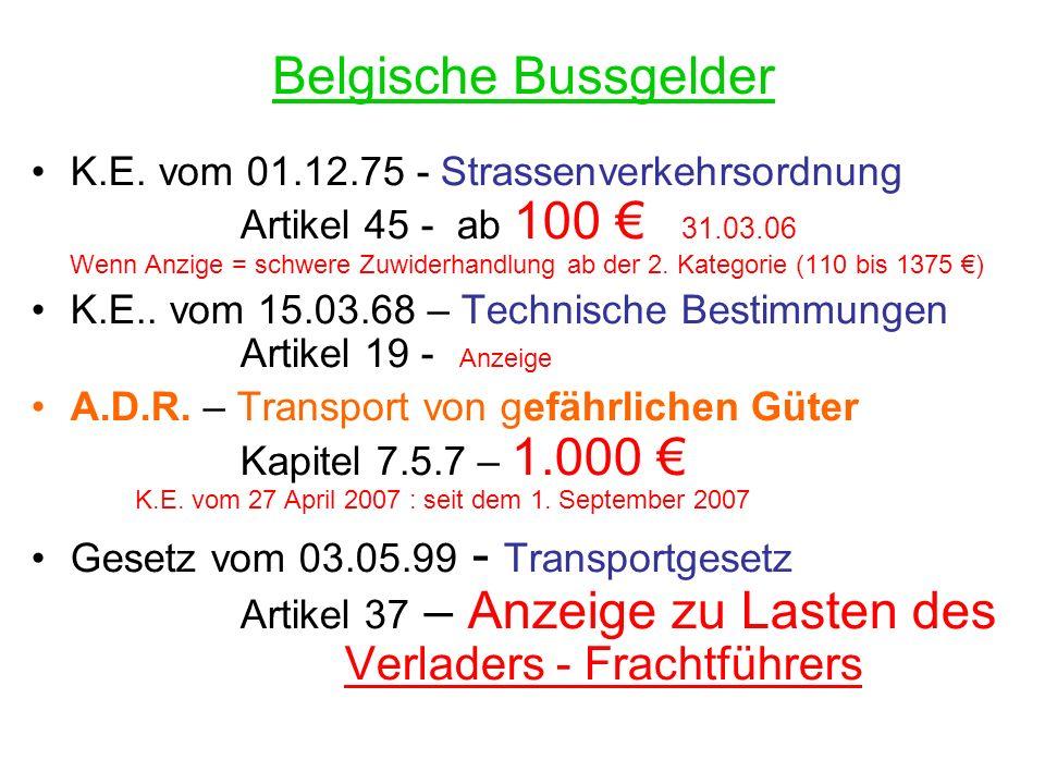 Belgische Bussgelder