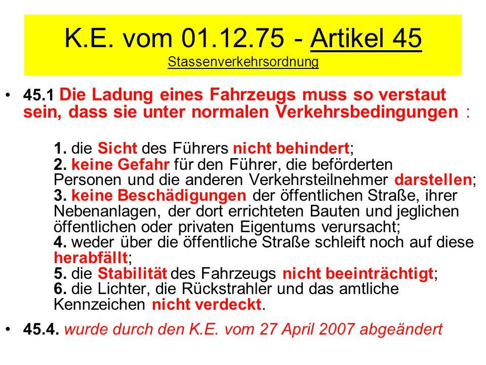 K.E. vom 01.12.75 - Artikel 45 Stassenverkehrsordnung