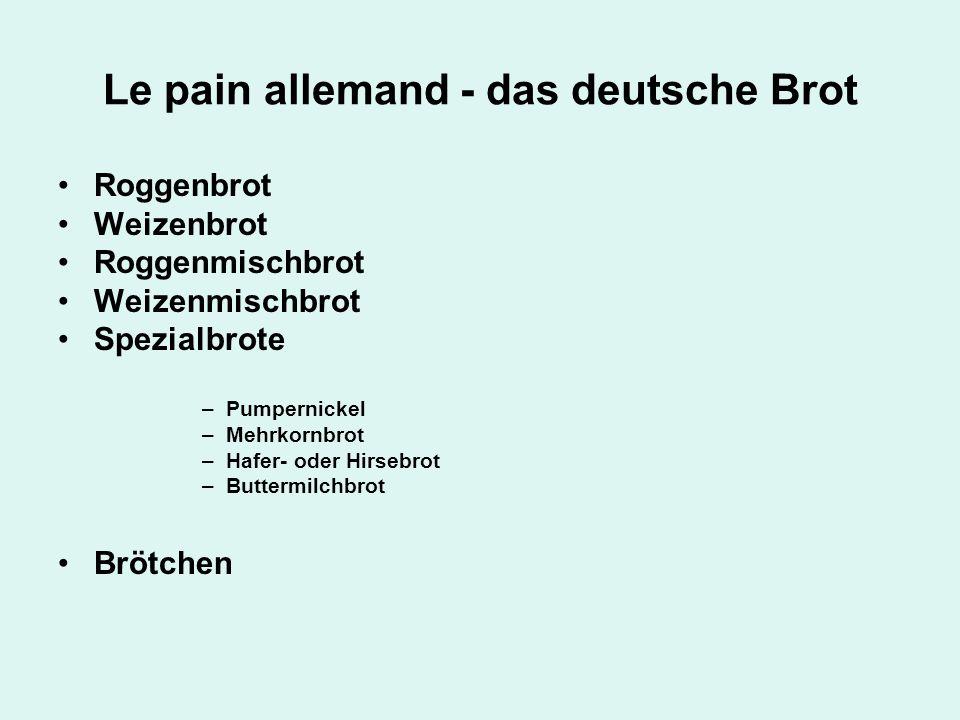 Le pain allemand - das deutsche Brot