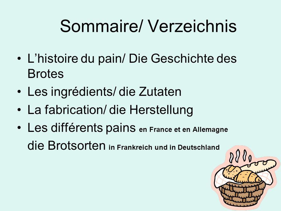 Sommaire/ Verzeichnis