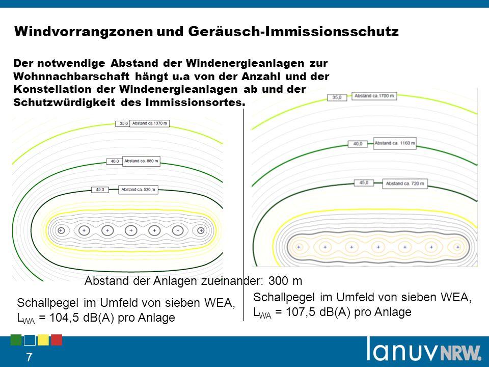 Windvorrangzonen und Geräusch-Immissionsschutz