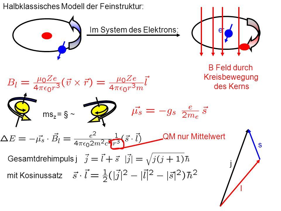 Halbklassisches Modell der Feinstruktur: