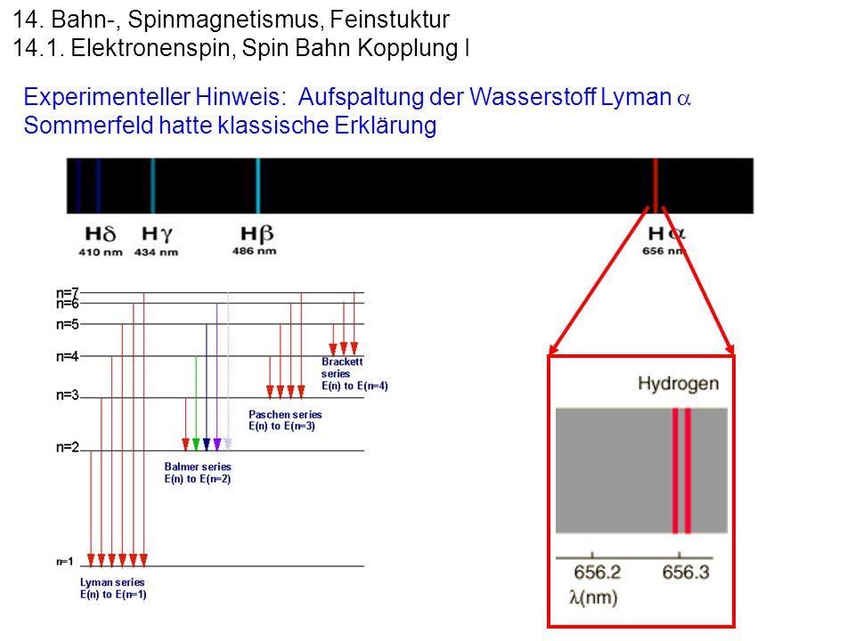 14. Bahn-, Spinmagnetismus, Feinstuktur