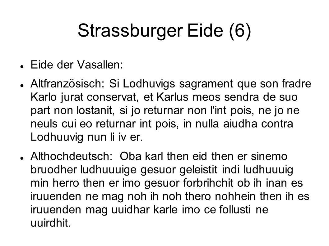Strassburger Eide (6) Eide der Vasallen: