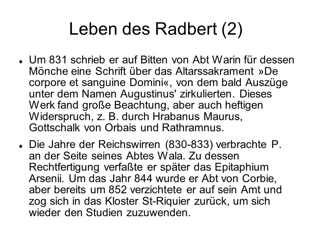 Leben des Radbert (2)