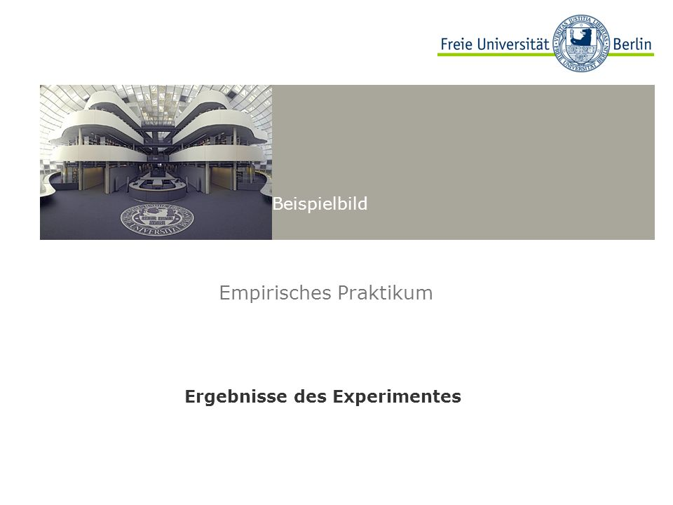 Empirisches Praktikum