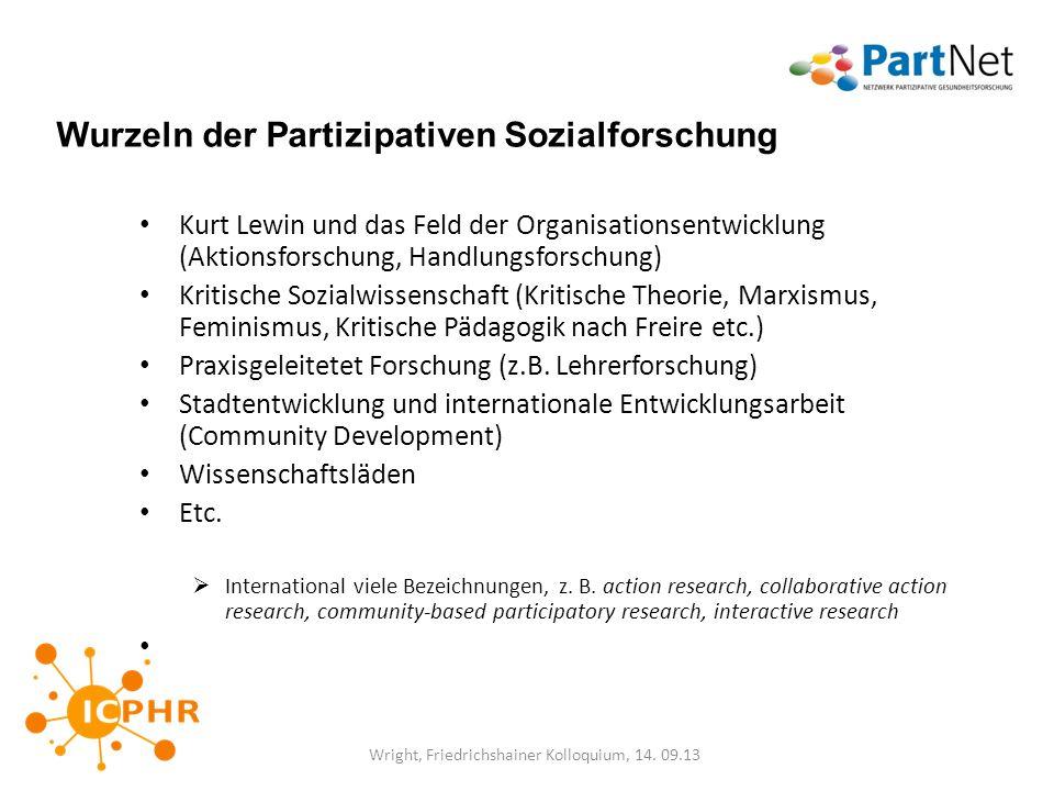 Wurzeln der Partizipativen Sozialforschung
