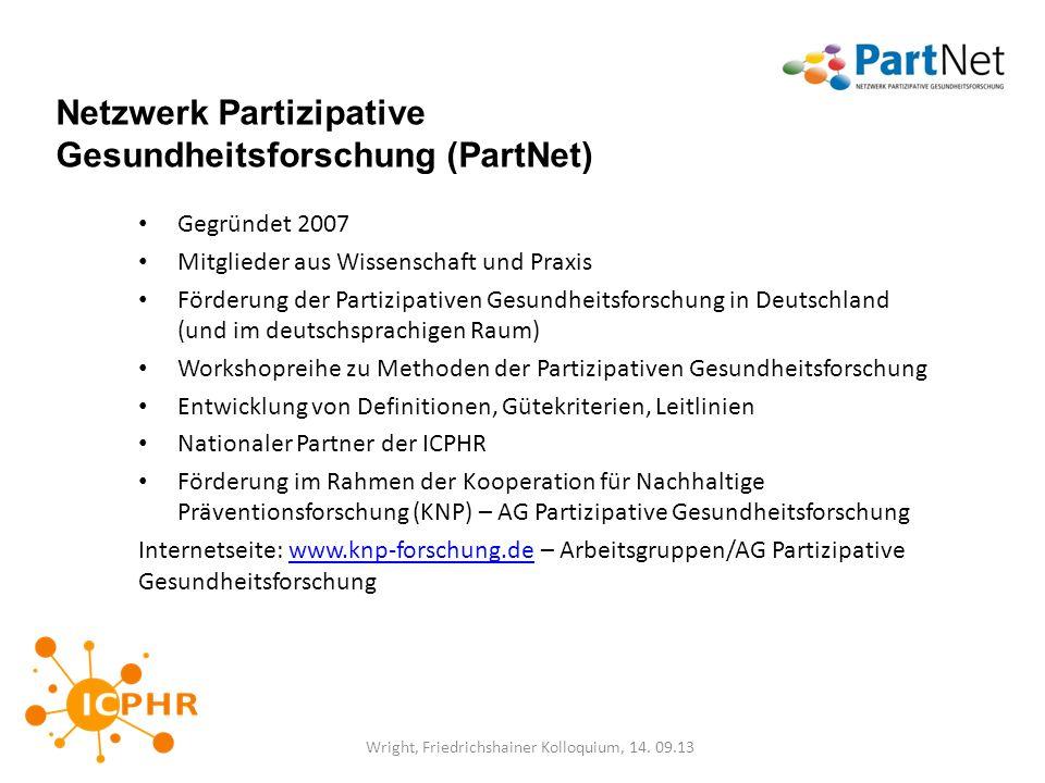 Netzwerk Partizipative Gesundheitsforschung (PartNet)