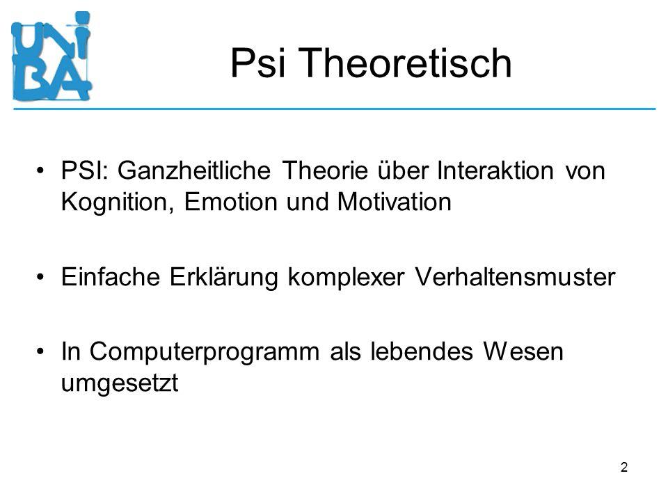 Psi Theoretisch PSI: Ganzheitliche Theorie über Interaktion von Kognition, Emotion und Motivation. Einfache Erklärung komplexer Verhaltensmuster.