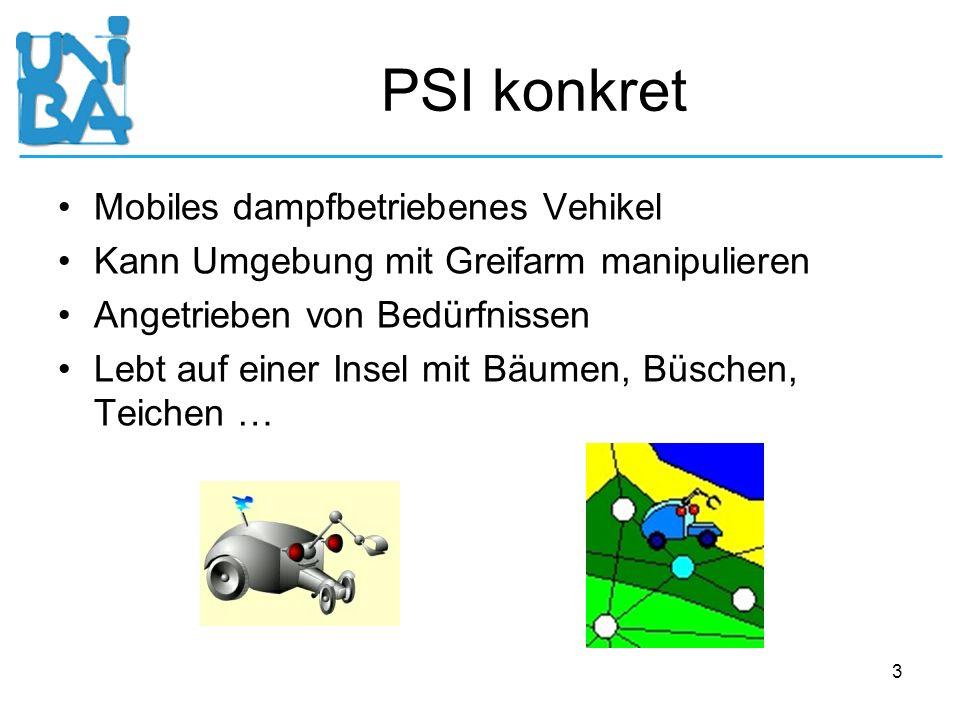 PSI konkret Mobiles dampfbetriebenes Vehikel