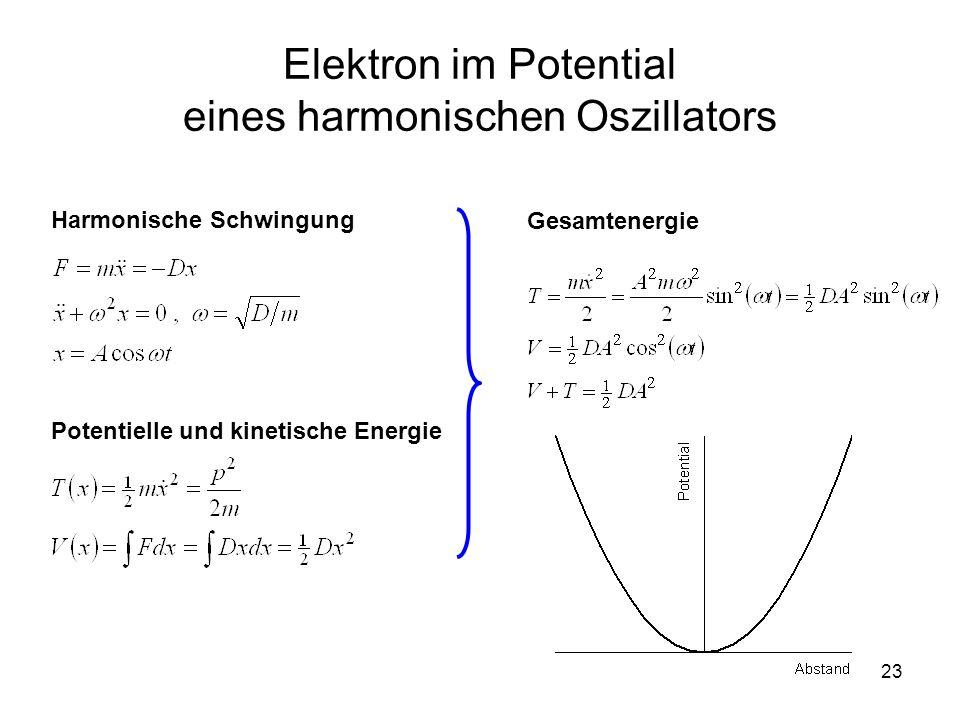 Elektron im Potential eines harmonischen Oszillators