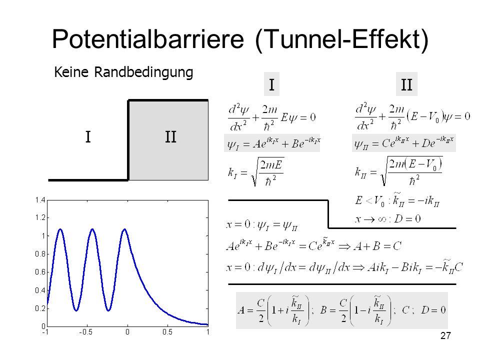 Potentialbarriere (Tunnel-Effekt)