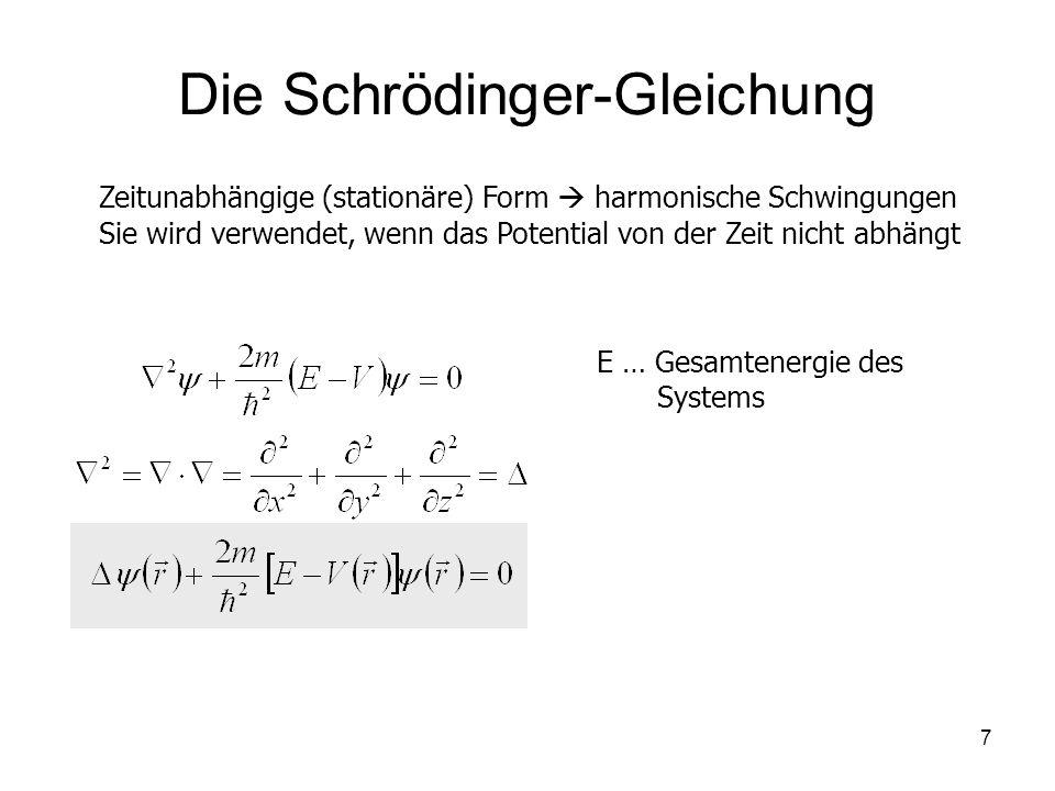 Die Schrödinger-Gleichung