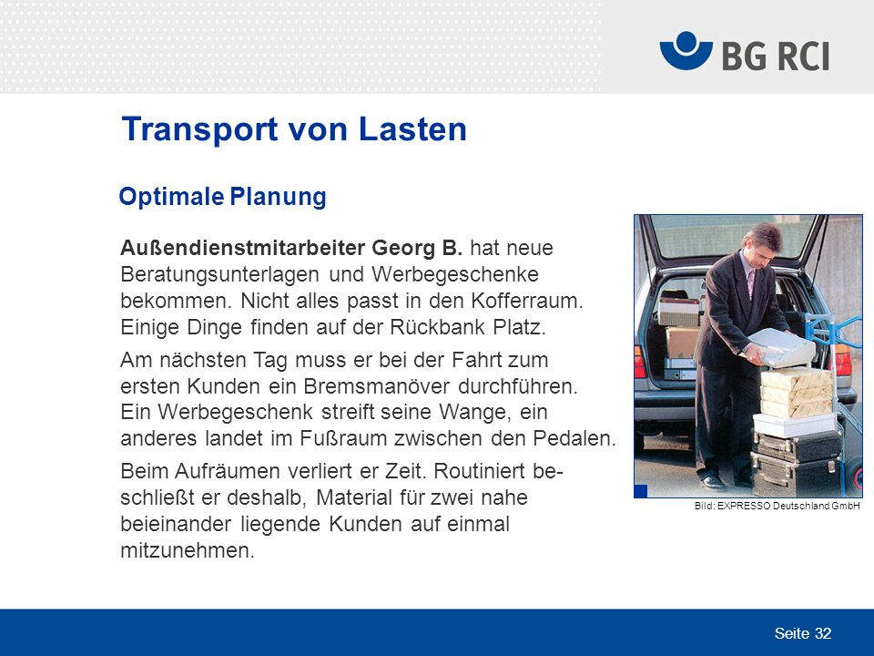 Transport von Lasten Optimale Planung