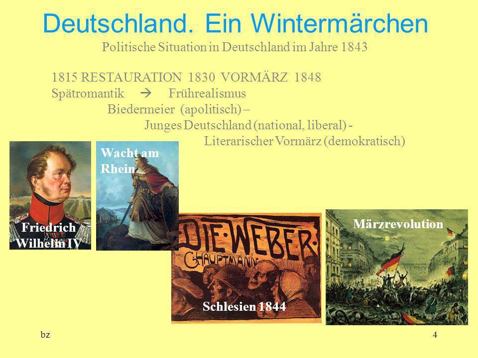 Deutschland. Ein Wintermärchen Politische Situation in Deutschland im Jahre 1843