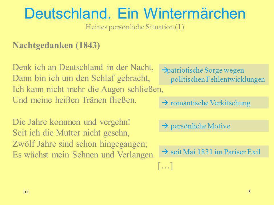 Deutschland. Ein Wintermärchen Heines persönliche Situation (1)
