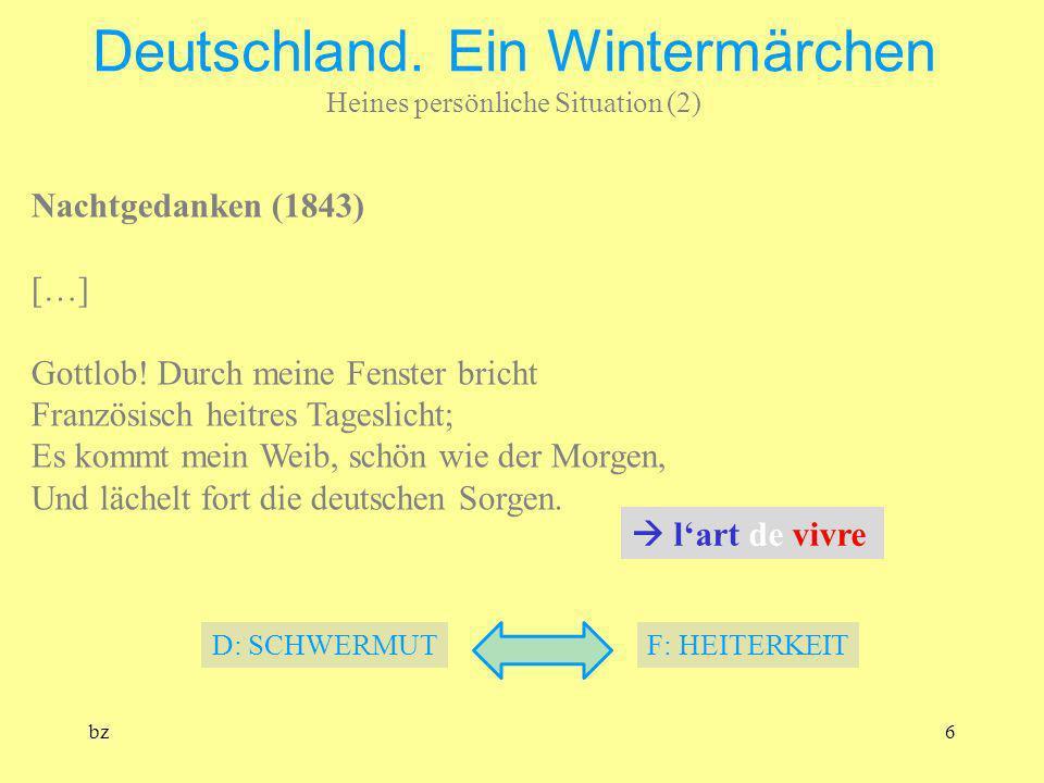 Deutschland. Ein Wintermärchen Heines persönliche Situation (2)