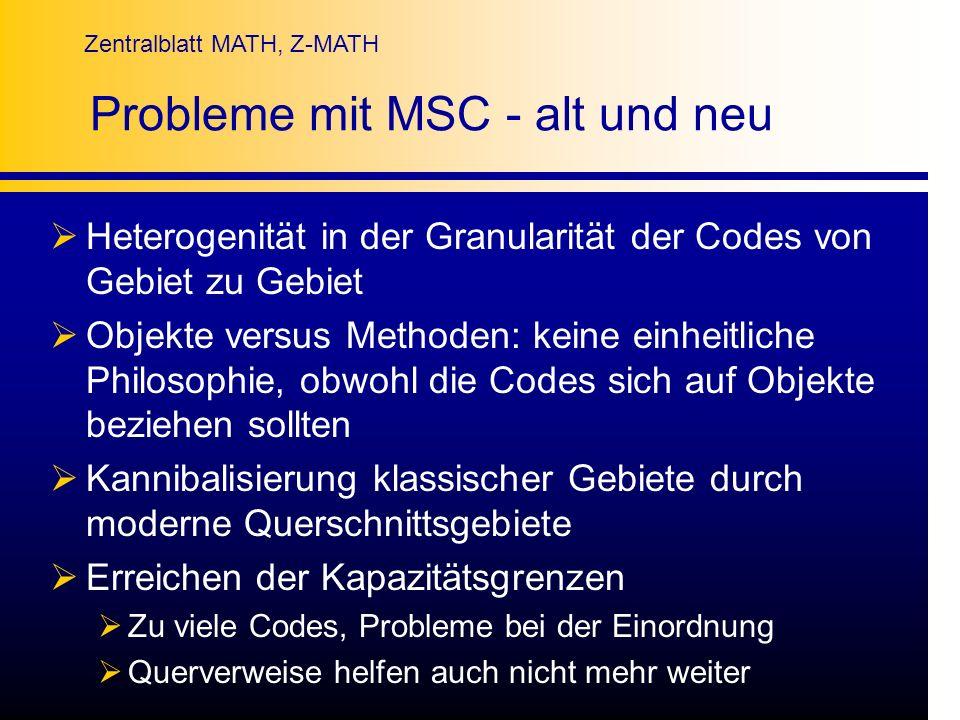 Probleme mit MSC - alt und neu