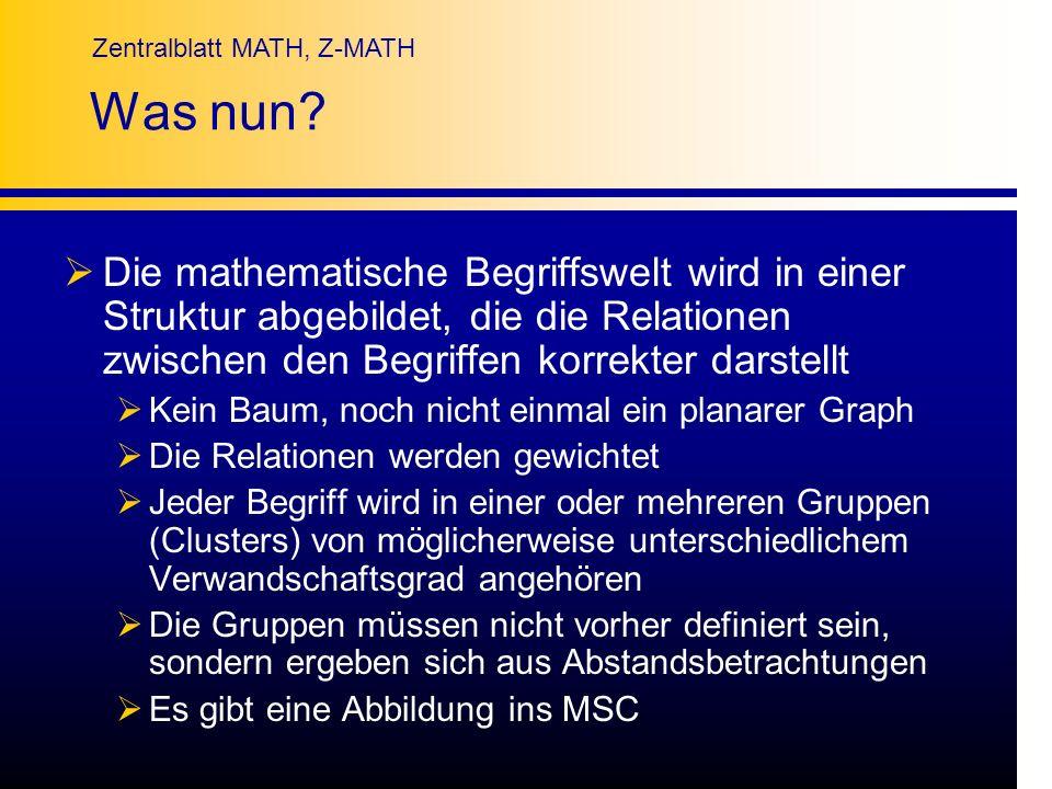Was nun Die mathematische Begriffswelt wird in einer Struktur abgebildet, die die Relationen zwischen den Begriffen korrekter darstellt.