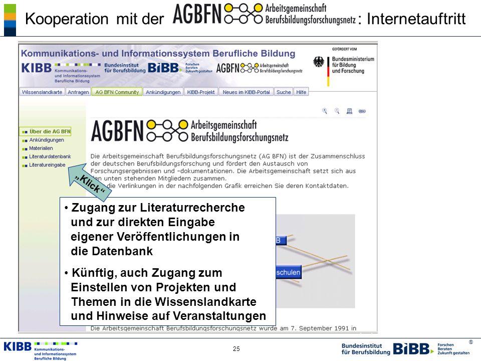 Kooperation mit der : Internetauftritt