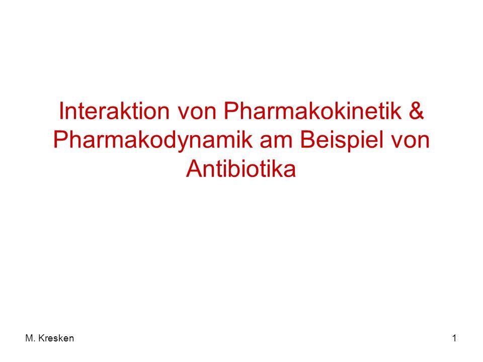 Interaktion von Pharmakokinetik & Pharmakodynamik am Beispiel von Antibiotika