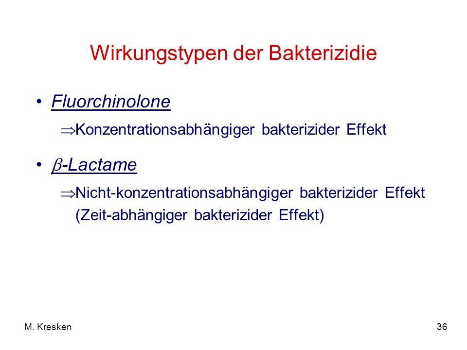 Wirkungstypen der Bakterizidie