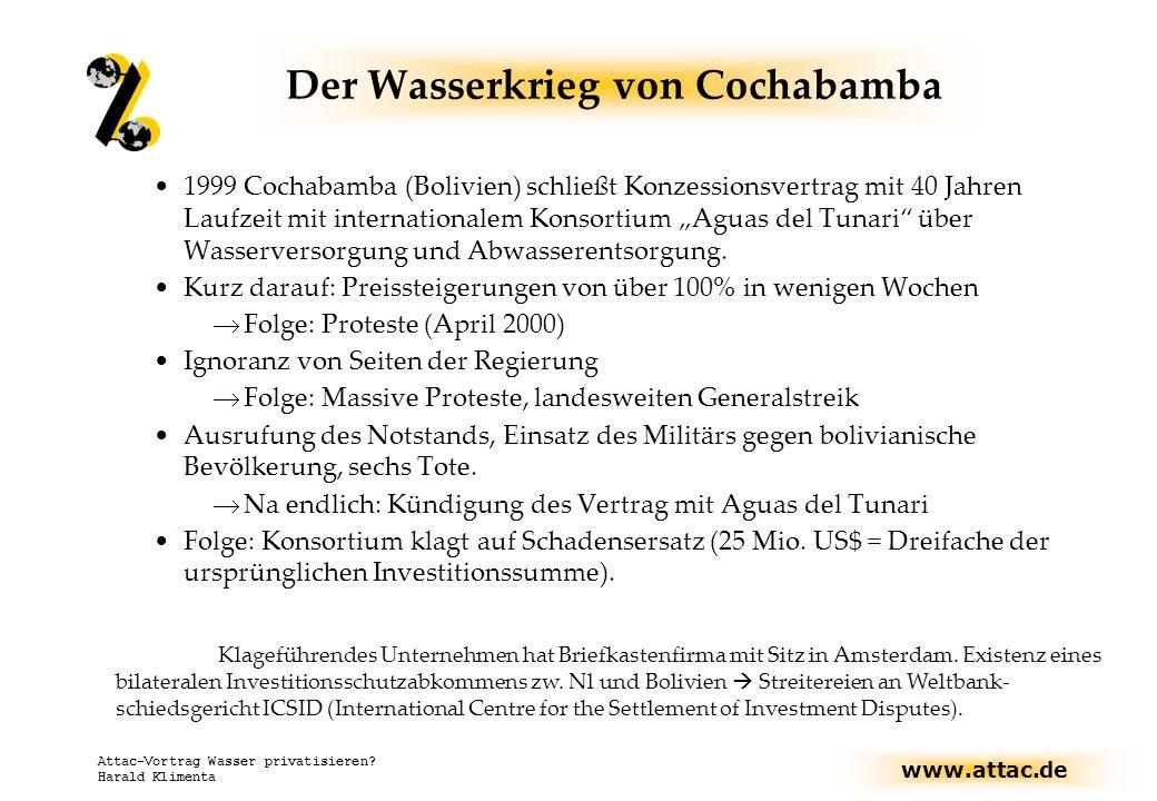 Der Wasserkrieg von Cochabamba