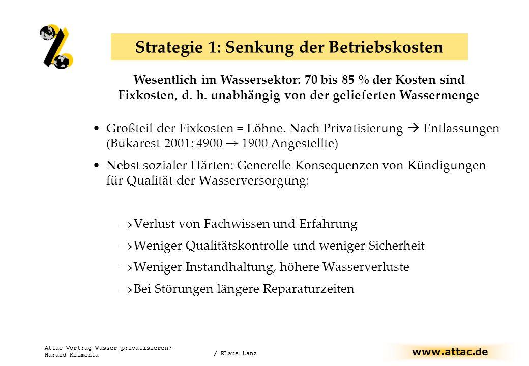 Strategie 1: Senkung der Betriebskosten