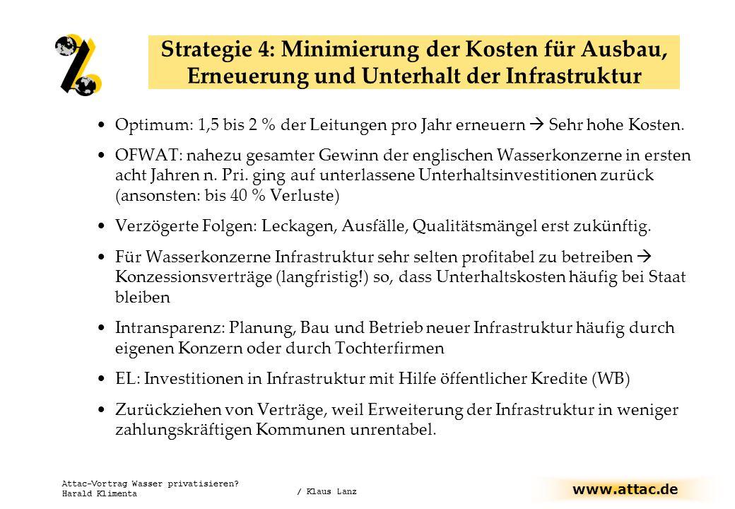 Strategie 4: Minimierung der Kosten für Ausbau, Erneuerung und Unterhalt der Infrastruktur