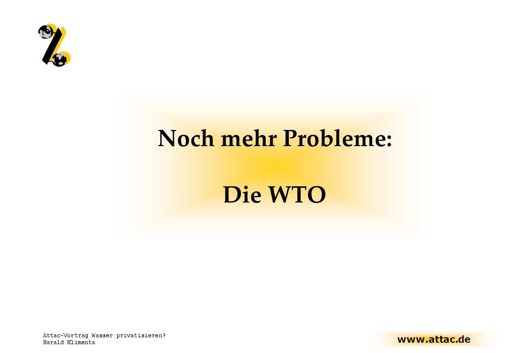 Noch mehr Probleme: Die WTO
