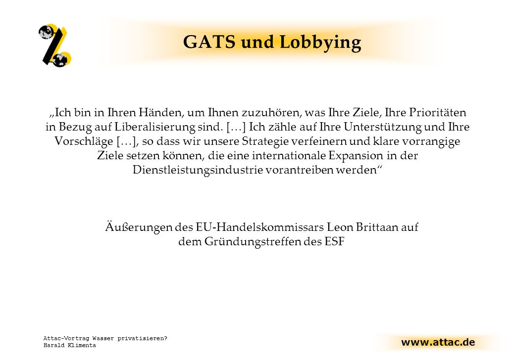 GATS und Lobbying