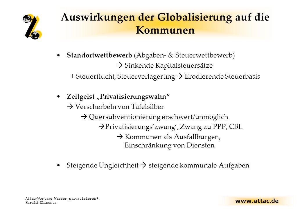 Auswirkungen der Globalisierung auf die Kommunen