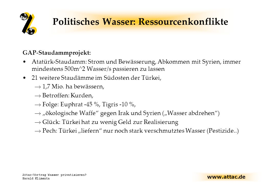 Politisches Wasser: Ressourcenkonflikte