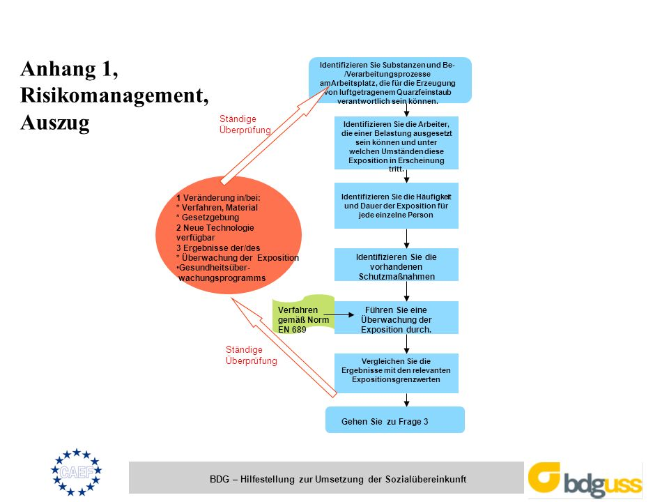 Anhang 1, Risikomanagement, Auszug