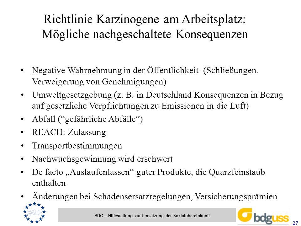Richtlinie Karzinogene am Arbeitsplatz: