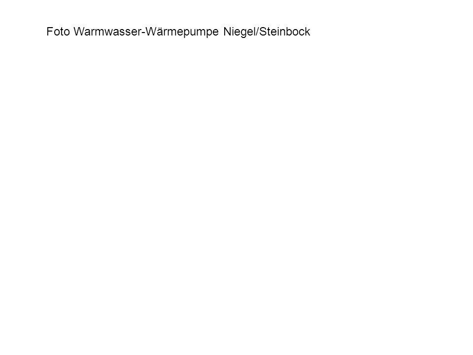Foto Warmwasser-Wärmepumpe Niegel/Steinbock
